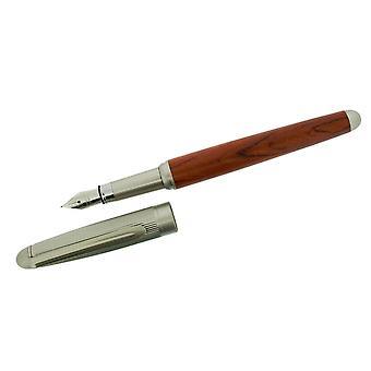 Cadeau tijd producten Cartridge Pen - Dark Brown/Satin Grey