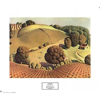Young Corn Poster Print by Grant Wood (20 x 17)