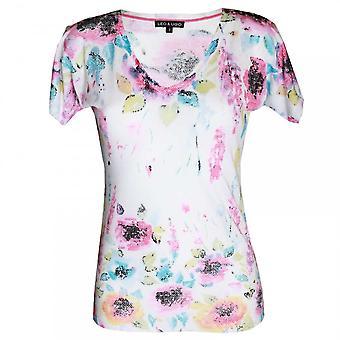 Leo & Ugo Women's Short Sleeve V-neck T-shirt