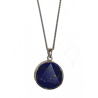 """Cavendish French Lapis Star with 16""""-18"""" silver chain"""