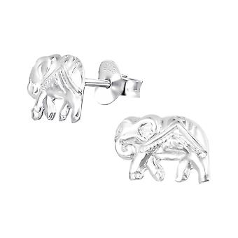 Elefant - 925 Sterling Silber Plain Ohrstecker - W36949x