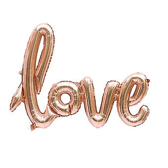 Rose Gold Love Letter Foil Balloon Anniversary Wedding Day - By TRIXES