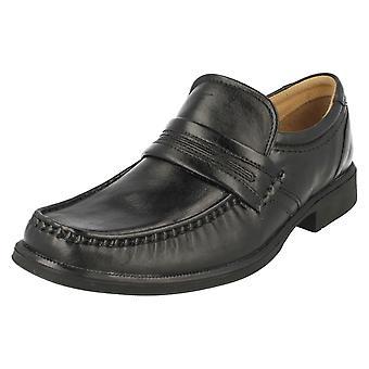 Mens Clarks Slip op schoenen Hoist werk
