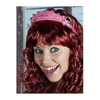Accesorios para el cabello fucsia tiara