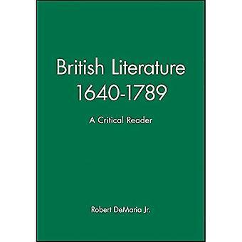 Brit Lit 1640-1789 Crit Rdr P