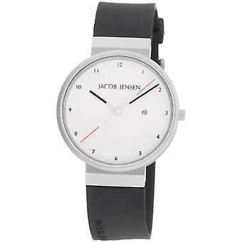 Jacob Jensen Mens analog quartz watch with rubber strap (New Series) Item No. 733