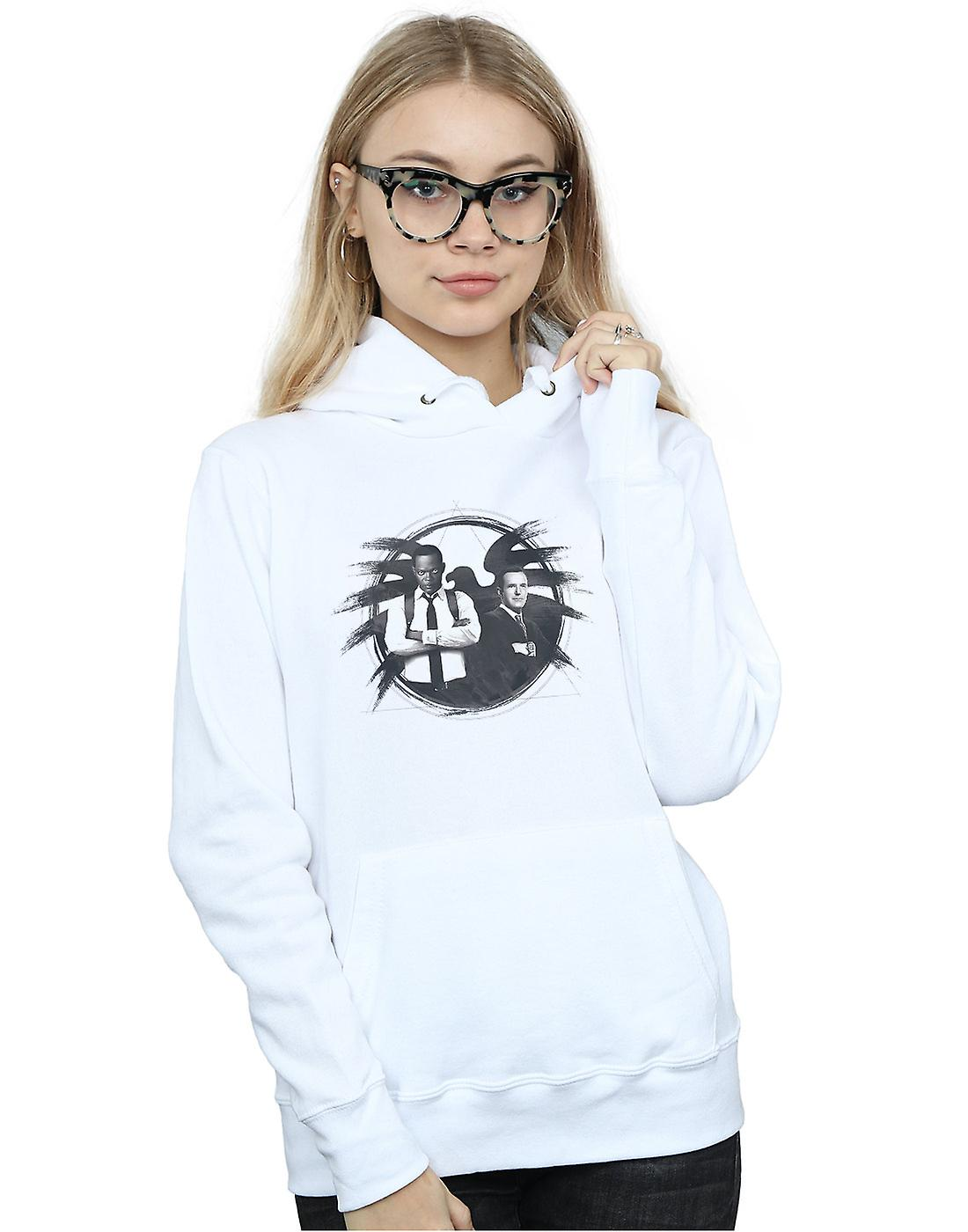 Marvel Women's Captain Marvel Nick Fury And Agent Coulson Hoodie