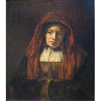 Portrait of an Old Woman, Rembrandt, 50x44cm