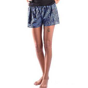 Kenzo Ezbc013005 Women's Blue Silk Shorts