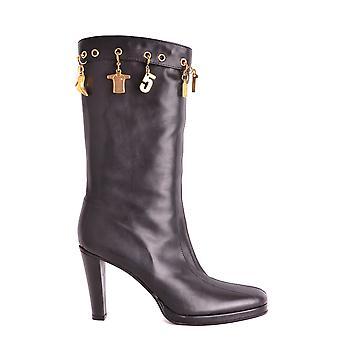 Bikkembergs Ezbc101049 Dames's Black Leather Boots