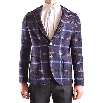 Manuel Ritz Ezbc128013 Men's Blue Wool Blazer