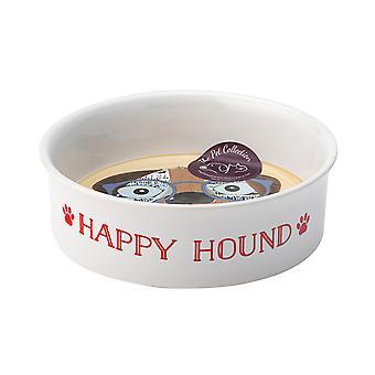Vaisselle anglaise Co. parfait animaux un bol moyen, chien heureux