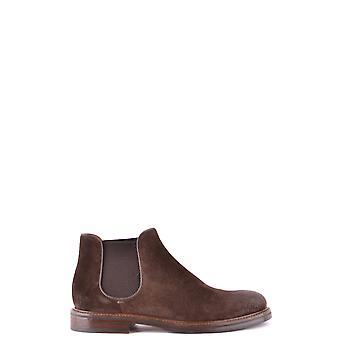 Doucal's Ezbc089030 Men's Brown Suede Ankle Boots