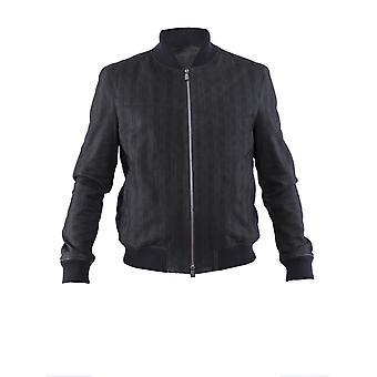 Corneliani 83l5k59120105020 Men's Black Leather Outerwear Jacket