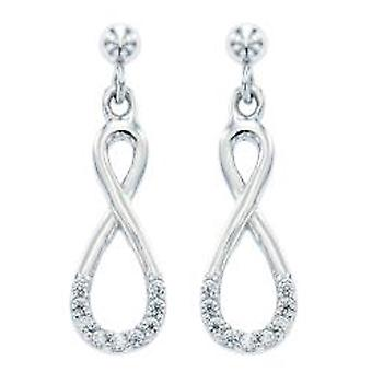 Ah! Jewellery Twisted Drop Earrings With Crystals From Swarovski Sterling Silver