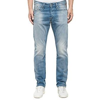 Replay Waitom Licht waschen Denim Jeans Straight Fit