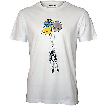 French Connection Spaceman Balloons Print T-Shirt, White