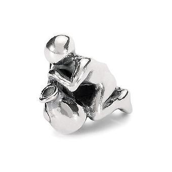 Trollbeads Aquarius argento tallone TAGBE-30110