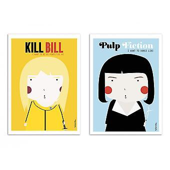 2 Pôsteres de Arte - Duo Tarantino - Ninasilla