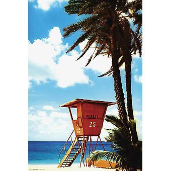 Poster - Studio B - Orange Lifegaurd Hut 36x24