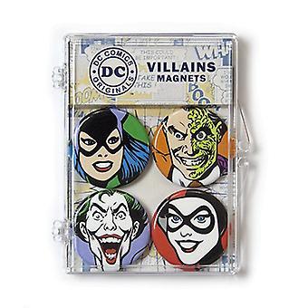 Magnet - DC Comics - Villians Joker Two-Face Harley Quinn Catwoman Set DCL102