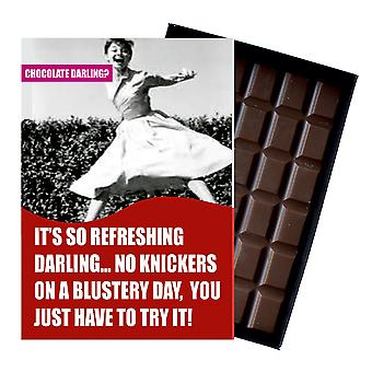 Funny Birthday Gift For Women Friend Girlfriend Boxed Chocolate Greeting Card Present CDL106