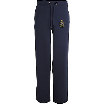 Queens Royal Irish Hussars veteran-licenseret British Army broderet åbne hem sweatpants/jogging bunde