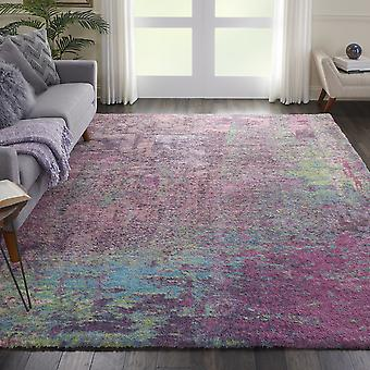 Corsica Shag Rugs Crc02 In Pink By Nourison