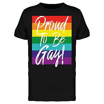 Proud To Be Gay Tee Men's -Image by Shutterstock