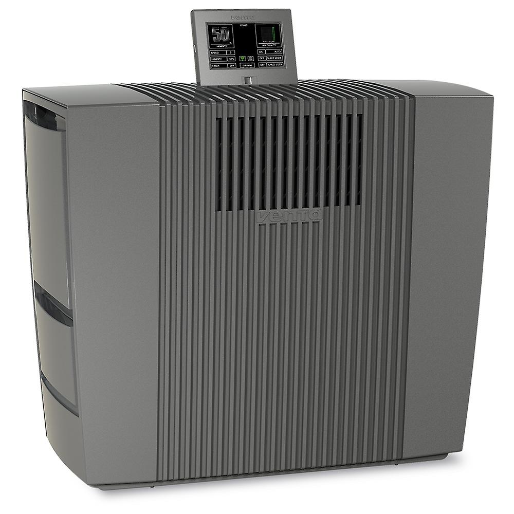 Venta LPH60 Smart Home Wifi, Hybrid humidifier 95m ² and Air purifier 45m ² with Venta App, anthracite.