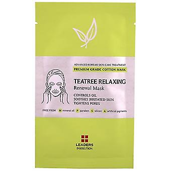 Leaders Insolution Teatree Relaxing Renewal Masque 1 Feuille