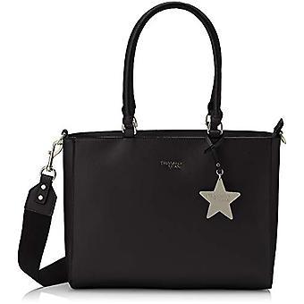 Trussardi Jeans T-Easy Tote Charm Star Logo Black Women's Bag 35x28x14 cm (W x H x L)