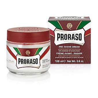 Proraso Red Pre-Shave Cream with Sandalwood Oil 100ml/3.4oz