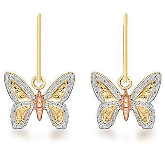Dearest Gold - Women's Pendant Earrings in Gold Tricolor 9K (375)