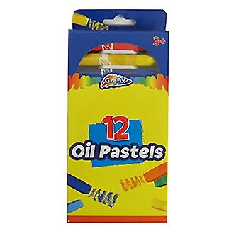 Grafix Oil Pastels, Pack de 12