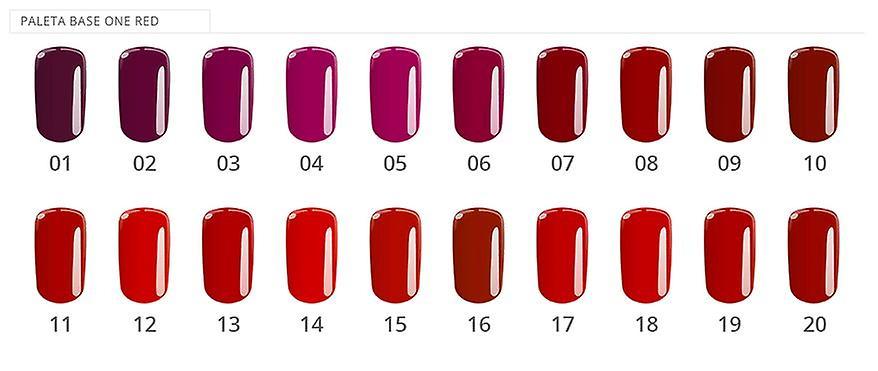 Base en-farge-Scarlet rød 5G UV gel