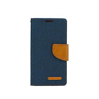 Canvas Book Case-for the Huawei P Smart 2019-Navy (en)