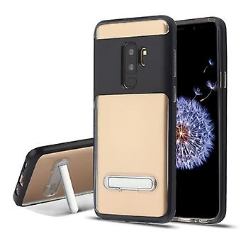 Black/Transparent Clear Hybrid Protector Cover (w/ Magnetic Stand) for Galaxy S9 Plus