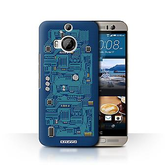 STUFF4 Case/Cover for HTC One M9+/Plus/Blue/Circuit Board