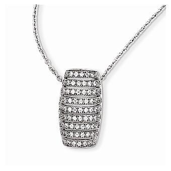 925 Sterling Silber Hummer Kralle Verschluss und CZ Zirkonia simuliert Diamant brillante Embers Halskette 18 Zoll Juwel