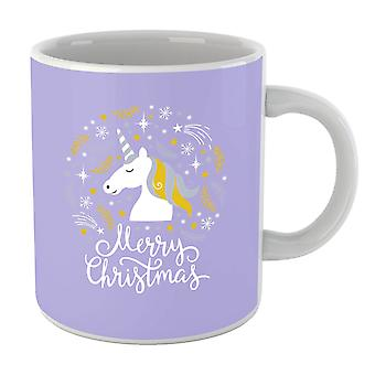 Unicorn Christmas Head Mug