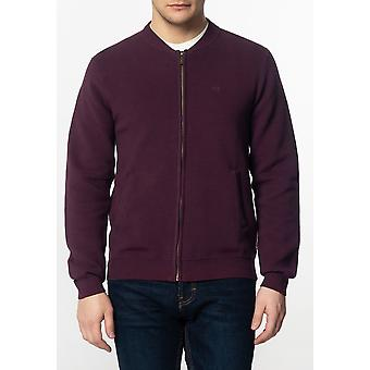 Merc BOOTH, Men's Chunky Cotton Cardigan with Ripple Detailing