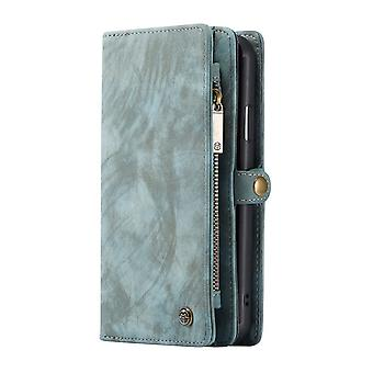 CASEME iPhone 11 Pro Retro Split Leather wallet Case-Blue