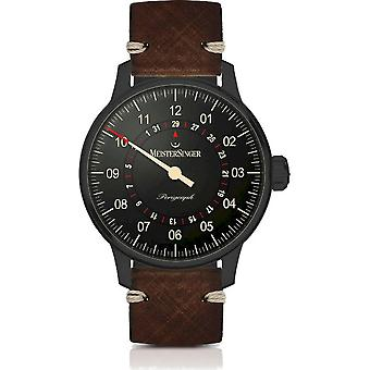 MeisterSinger Men's Watch Perigraph Black Line One-Hand Watch Automatic AM1002BL_SVSL02