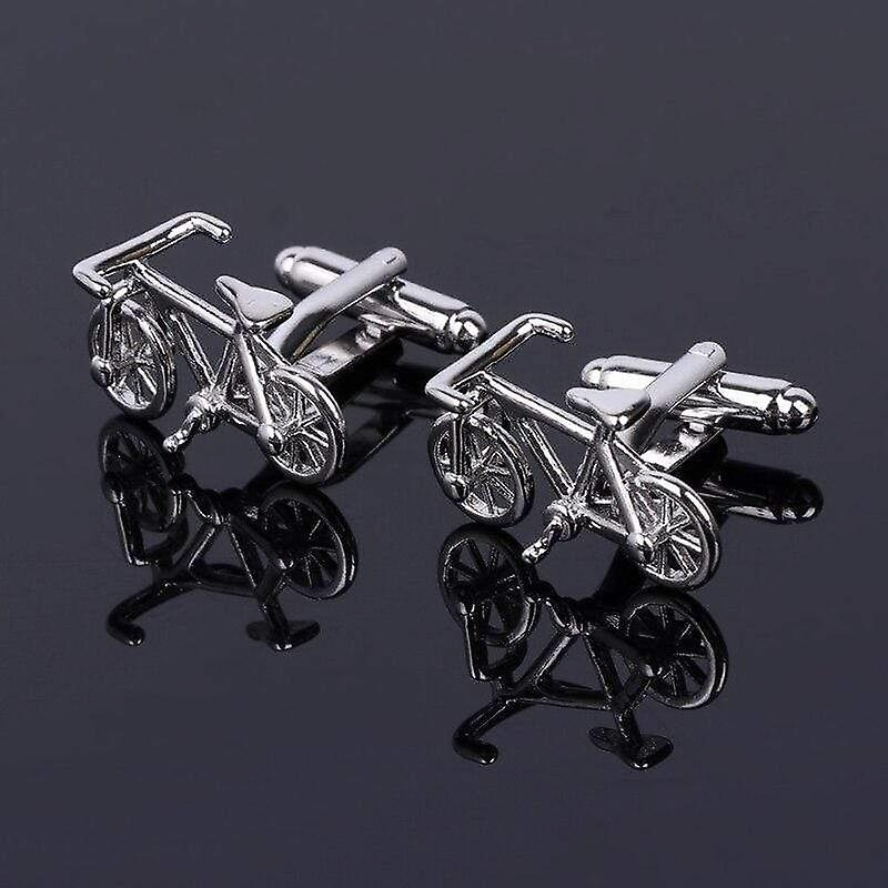 Bike bicycle ride theme suit cuff link stainless steel