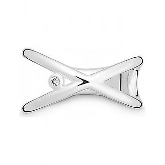 QUINN - Ring - Damen - Silber 925 - Wess. (H) / piqué - Weite 56 - 0212986