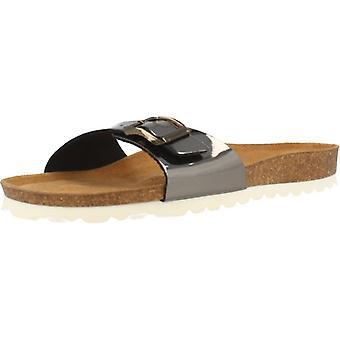 Gele winkel sandalen 78730 kleur antraciet