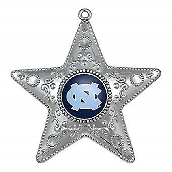 North Carolina Tar Heels NCAA Sports Collectors Series Silver Star Ornament