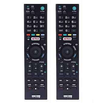 2x Universal RMT-TX100D remote control replacement Sony HDTV LED