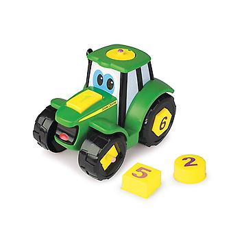 John Deere Learn and Pop Number Tractor Farm Vehicle Toy